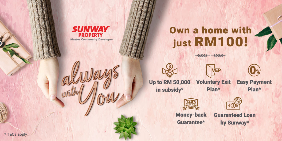 Own A Home With Just RM 100